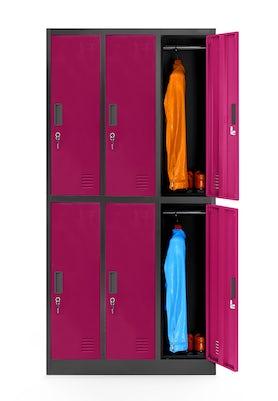 JAN NOWAK model IGOR szafa socjalna ubraniowa 6-drzwiowa fuksja