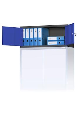 JAN NOWAK model EWA biurowa nadstawka do szafy antracytowo-niebieska