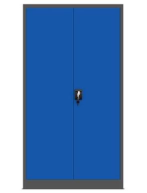 JAN NOWAK model TOMASZ biurowa szafa metalowa na akta: antracytowo-niebieska