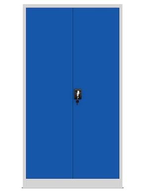 JAN NOWAK model TOMASZ biurowa szafa metalowa na akta: szaro-niebieska