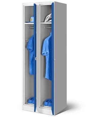 JAN NOWAK model KACPER 2 szafa socjalna ubraniowa czterokomorowa niebieska