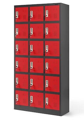 JAN NOWAK model KAROL skrytkowa szafa socjalna antracytowo-czerwona