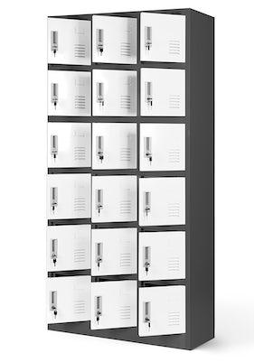 JAN NOWAK model KAROL skrytkowa szafa socjalna antracytowo-biała