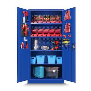 JAN NOWAK model BRUNO warsztatowo-narzędziowa szafa metalowa niebieska