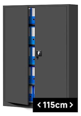 JAN NOWAK model JAN II biurowa szafa metalowa na akta: antracytowa