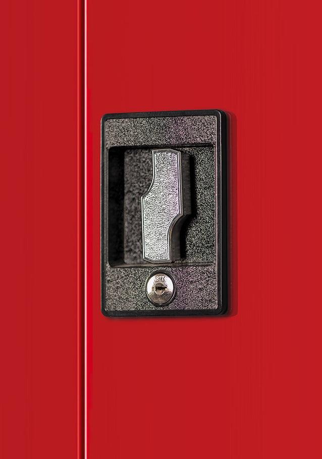 JAN NOWAK model BRUNO warsztatowo-narzędziowa szafa metalowa antracytowo-czerwona