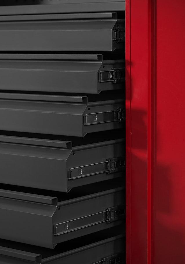 JAN NOWAK model DAREK warsztatowo-narzędziowa szafa metalowa antracytowo-czerwona