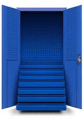 JAN NOWAK model DAREK warsztatowo-narzędziowa szafa metalowa niebieska