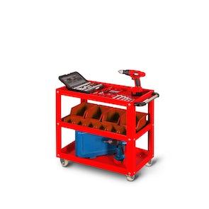 JAN NOWAK model HUGO narzędziowy wózek metalowy: czerwony