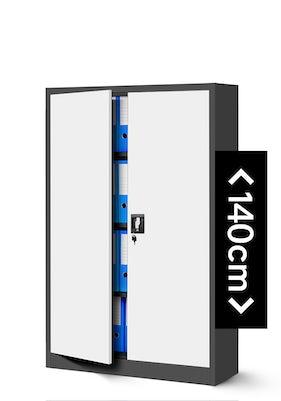 JAN NOWAK model KEVIN biurowa szafa metalowa na akta: antracytowo-biała