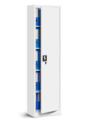 JAN NOWAK model ALEX biurowa szafa metalowa na akta: biała