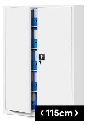 JAN NOWAK model JAN II biurowa szafa metalowa na akta: biała