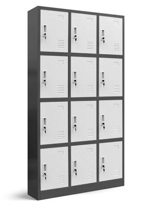 JAN NOWAK model MARCIN skrytkowa szafa socjalna BHP śniadaniowa antracytowo-biała