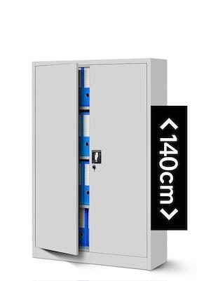 JAN NOWAK model KEVIN biurowa szafa metalowa na akta: szara