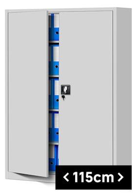 JAN NOWAK model JAN II biurowa szafa metalowa na akta: szara