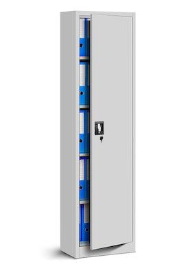JAN NOWAK model ALEX biurowa szafa metalowa na akta: szara