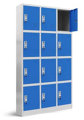 JAN NOWAK model MARCIN skrytkowa szafa socjalna BHP śniadaniowa szaro-niebieska