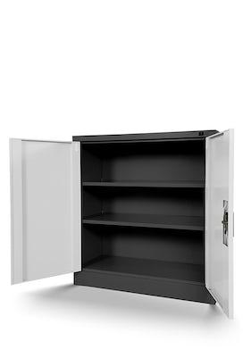 JAN NOWAK model BEATA metalowa szafka z drzwiami: antracytowo-biała