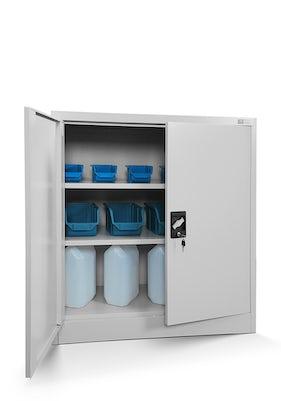 JAN NOWAK model BEATA metalowa szafka z drzwiami: szara