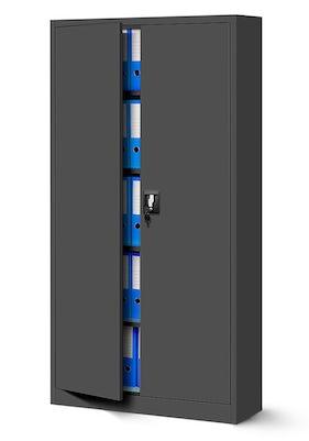 JAN NOWAK model JAN biurowa szafa metalowa na akta: antracytowa