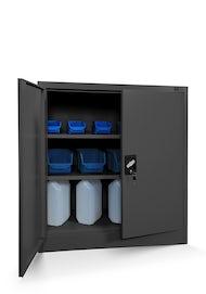 JAN NOWAK model BEATA metalowa szafka z drzwiami: antracytowa