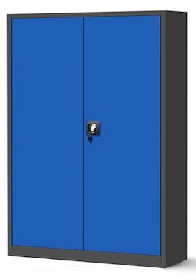 JAN NOWAK model JAN II biurowa szafa metalowa na akta: antracytowo-niebieska