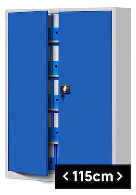 JAN NOWAK model JAN II biurowa szafa metalowa na akta: szaro-niebieska
