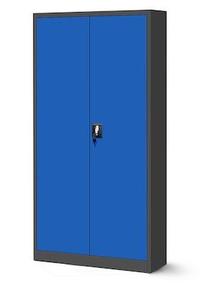 JAN NOWAK model JAN biurowa szafa metalowa na akta: antracytowo-niebieska