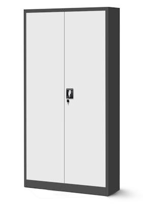 JAN NOWAK model JAN H biurowa szafa metalowa na akta: antracytowo-biała
