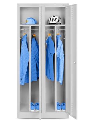 JAN NOWAK model KACPER szafa socjalna BHP ubraniowa czterokomorowa szara