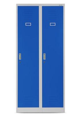 JAN NOWAK model KACPER szafa socjalna BHP ubraniowa czterokomorowa szaro-niebieska