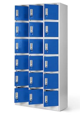 JAN NOWAK model KAROL skrytkowa szafa socjalna szaro-niebieska