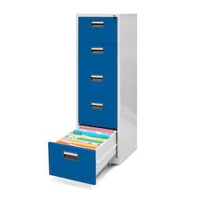 JAN NOWAK model SARA V005 metalowa szafa kartotekowa szaro-niebieska