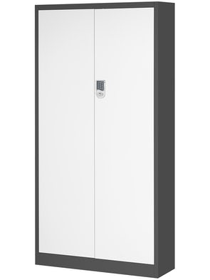 JAN NOWAK model DANIEL biurowa szafa metalowa na akta: antracytowo-biała
