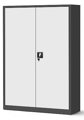 JAN NOWAK model JAN II biurowa szafa metalowa na akta: antracytowo-biała