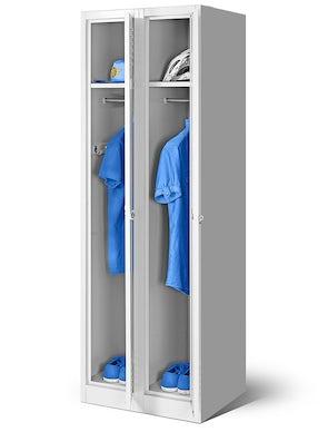 JAN NOWAK model KACPER 2 szafa socjalna ubraniowa czterokomorowa szara