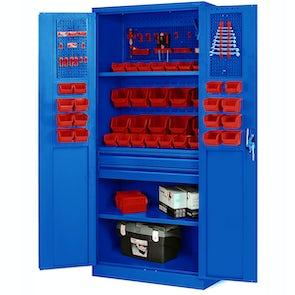 JAN NOWAK model SZYMON warsztatowo-narzędziowa szafa metalowa: niebieska