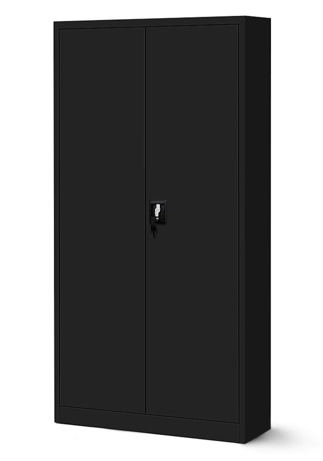 JAN NOWAK model JAN biurowa szafa metalowa na akta: czarna