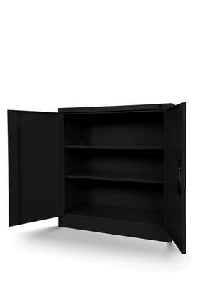JAN NOWAK model BEATA metalowa szafka z drzwiami: czarna
