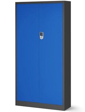 JAN NOWAK model DANIEL biurowa szafa metalowa na akta: antracytowo-niebieska