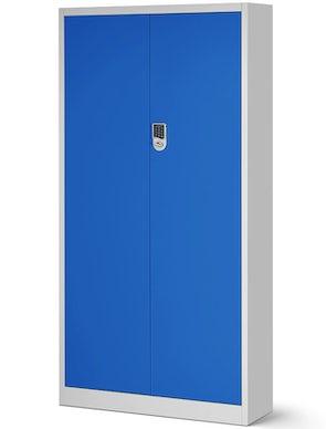 JAN NOWAK model DANIEL biurowa szafa metalowa na akta: szaro-niebieska