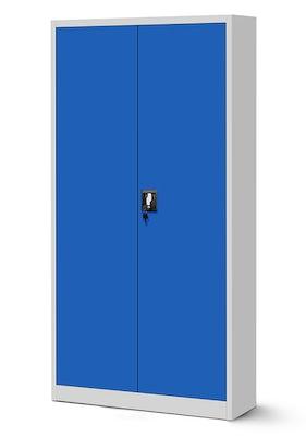 JAN NOWAK model JAN biurowa szafa metalowa na akta: szaro-niebieska