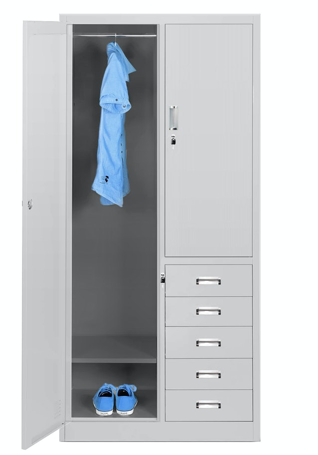 JAN NOWAK model ADAM wielokomorowa szafa socjalna ubraniowa z szufladami