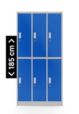 JAN NOWAK model IGOR szafa socjalna ubraniowa 6-drzwiowa szaro-niebieska