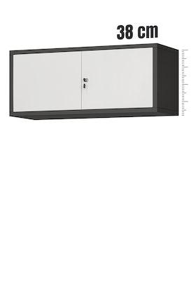 JAN NOWAK model EWA biurowa nadstawka do szafy antracytowo-biała