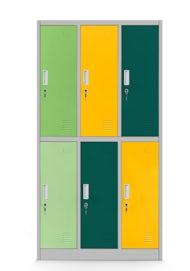 JAN NOWAK model IGOREK szafa szkolna BHP ubraniowa 6-drzwiowa