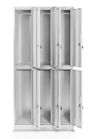 JAN NOWAK model IGOR szafa socjalna ubraniowa 6-drzwiowa szara